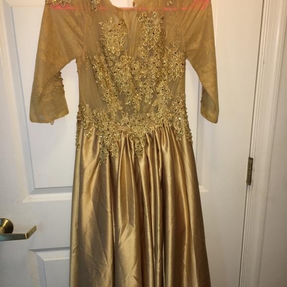 4457348bb Dresses | Gold Ballroom Dress Size 4 | Poshmark